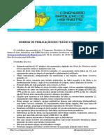 Normas Para Publicação de Trabalhos Abh