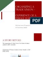 Organizing Trade Unions-XLRI 9.8.17