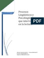Resumen Habilidades Lingüísticas Orales y Escritas Para La Lectura y Escritura en Niños Preescolares