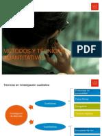 Métodos y técnicas cuantitativas