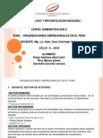 Organizaciones Empresariales en El Peru1