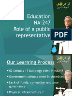 Dr Arif Alvi presents his work on Education in NA-247