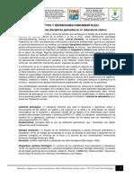 SEMANA 1, Conceptos y Definiciones de Laboratorio Clinico, SEPARATA