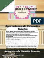 Aportaciones a La Educación Griegos y Romanos