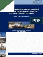 Estudio de Verificación Del Margen de Reserva Firme Objetivo (MRFO)