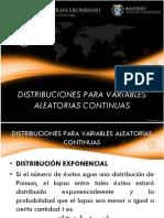 Semana 8 Distribuciones Para Variables Aleatorias Continuas