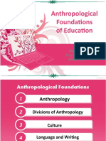 Anthropological Foundations of Education