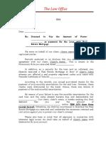 Sample Demand Mortgage Foreclosure