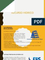 RECURSO HIDRICO MOQUEGUA