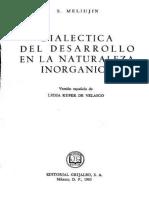 Dialéctica Del Desarrollo en La Naturaleza Inorgánica