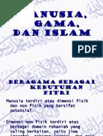 Manusia, Agama, Dan Islamkelompok 2