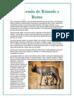 La Leyenda de Rómulo y Remo