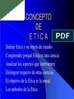 III Concepto de Etica
