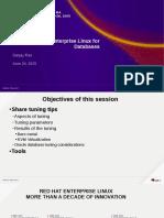 11952 Performance Tuning Red Hat Enterprise Linux Platform for Databases