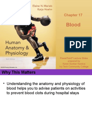 Anatomy & Physiology Ch 17 Marieb & Hoehn Lecture PPT | Red