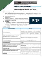 Convocatoria CAS N° 052- Bases de Perfil