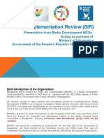 SDGs Implementation Review (SIR) Report