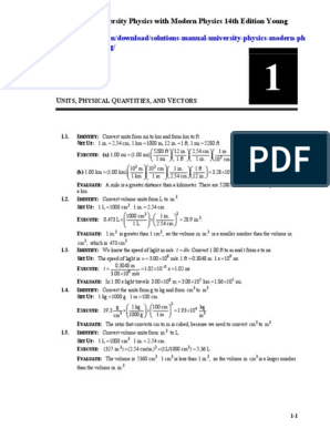 Solutions Manual University Physics With Modern Physics 14th