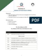2º Congresso de Investigação Criminal 2009