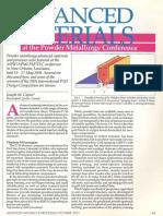 Adv Materials for PM