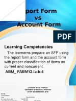 Report Form vs Account Form