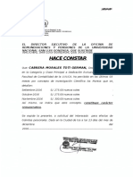 El Director Ejecutivo de La Oficina de Remuneraciones y Pensiones de La Universidad Nacional San Luis Gonzaga