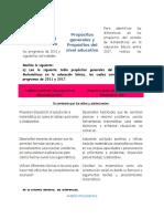 s Propósitos Del Estudio de Matemáticas en La Educación Básica Entre Los Programas de 2011 y 2017