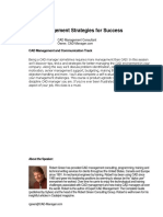 CAD Management Strategies for Success