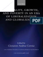 Inequality, Growth, And Poverty in an Era of Liberalization and Globalization