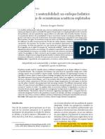 Adaptabilidad Sostenibilidad, Enfoque Holístico Manejo Ecosistemas Acuáticos- Arreguín