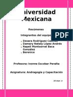 resumen Andragogía