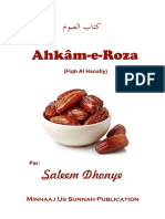 Ahkâm e Roza (Fiqh Hanafi)