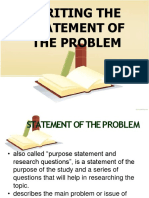 Writing the Statement of the Problem