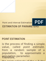 Point and Interval Estimation