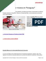 Donde Estudiar Musica Paraguay