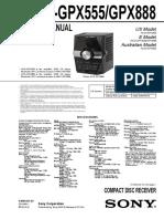 Sony+HCD-GPX555,+HCD-GPX888