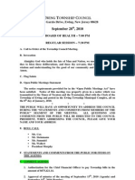 2010-09-28 Regular Agenda Session