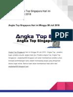 Prediksi Angka Top Singapura Hari Ini 08 Juli 2018