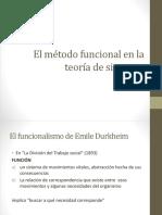 El Método Funcional en La Teoría de Sistemas