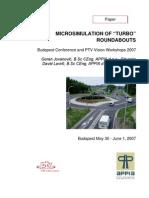 Ap000 07 Micro Simulation of Turbo Roundabouts Reference Raziskave