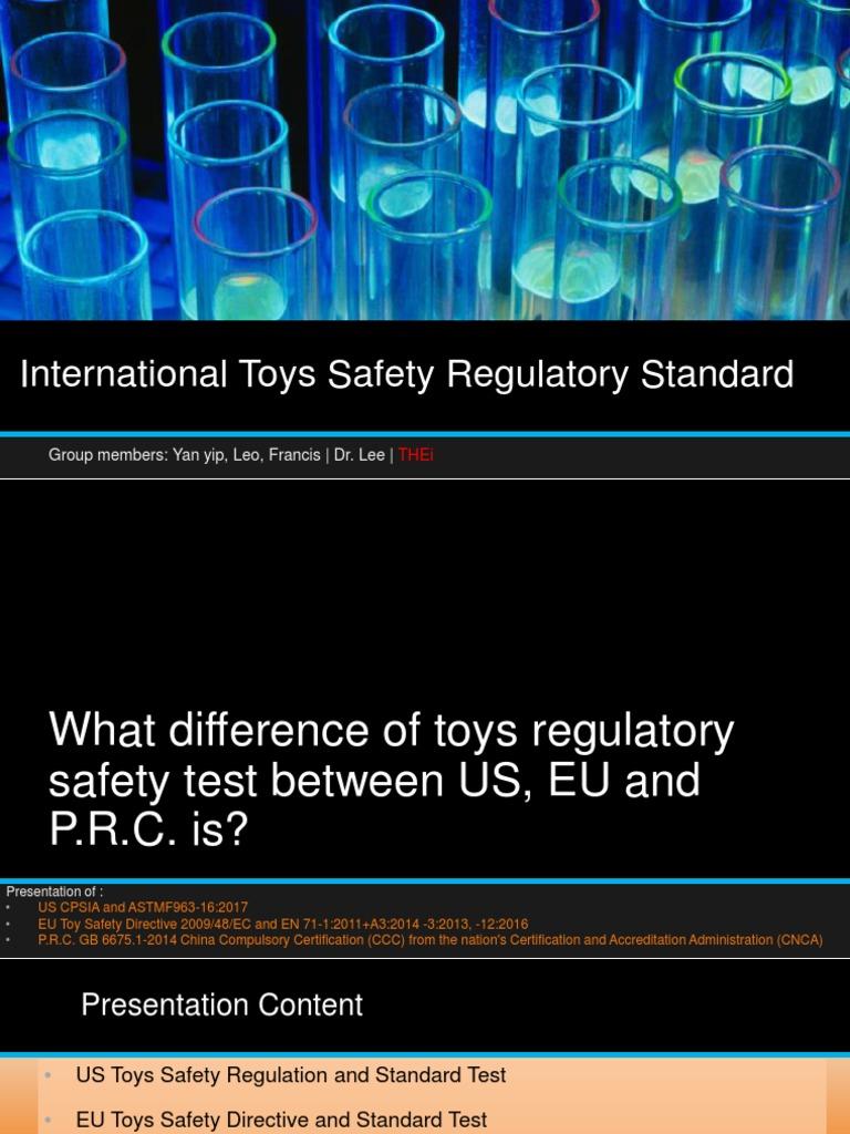 Presentation International Toys Safety Regulatory Test Gas