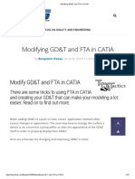 Modifying GD&T and FTA in CATIA
