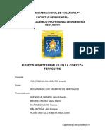 Yacimientos Minerales - fluidos hidrotermales