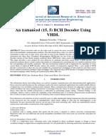 An Enhanced (15, 5) BCH Decoder Using VHDL