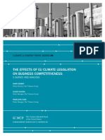 The Effect of EU Climate Legislation on Business Competitiveness