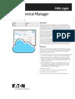 Flt Central Manager Spec Sheet