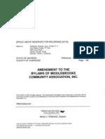 Middlbrooke Declaration Amendment