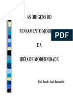 As Origens Do Pensamento Moderno