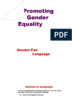 Gender Fair Language