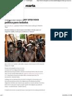 (Web) Carta Capital. Indígenas Lutam Por Uma Nova Política Para Isolados